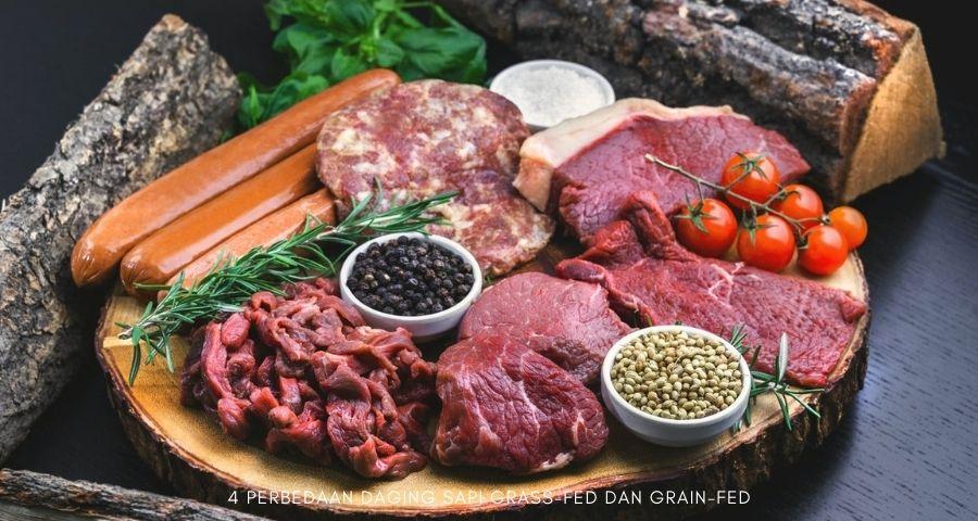 perbedaan daging sapi grass fed dan grain fed
